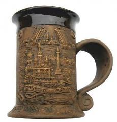 """Souvenir Ceramic mug """"Collage. Savior on Spilled Blood - Palace Square - Bridges""""/065-5-01K10"""