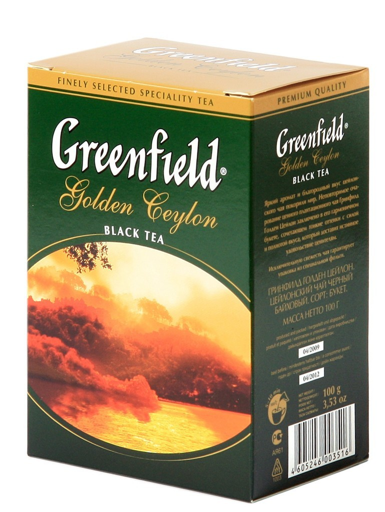 "Greenfield Black Tea ""Golden Ceylon"", 25 Tea Bags"