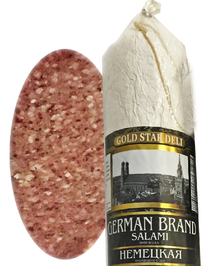 German Brand Salami Chunk, 0.9 lb/ 0.4 kg