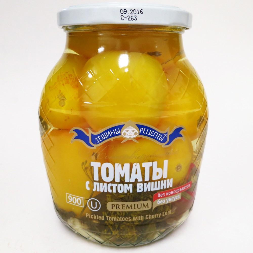 Pickled Tomatoes w/ Cheery Leaf, 14.81 oz/ 420 g