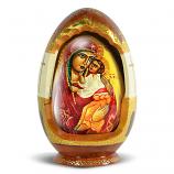 """Decorative Wooden Egg """"Mother of God"""" 7"""""""