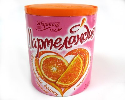 Orange slices marmalade with natural juice