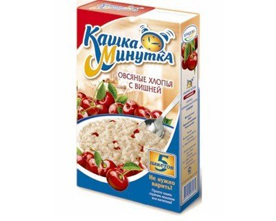 Oat flakes with cherries