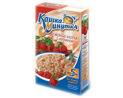 Oat flakes with raspberries