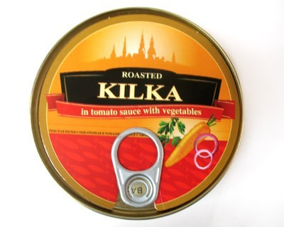 Kilka roasted in tomato sause with vegetables