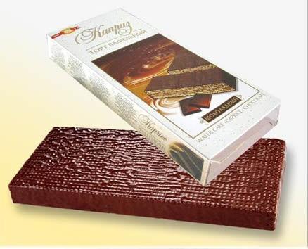"""Chocolate-waffle cake """"Kaprise"""" chocolate"""