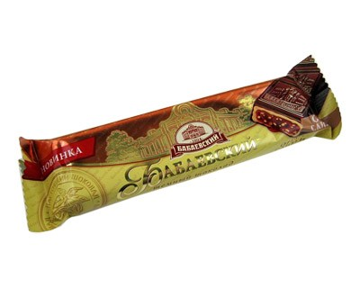 "Chocolate bar ""Babaevsky"" Nuts-Cream with filling ***"