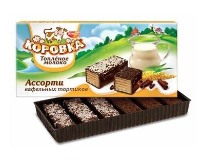 "Wafers cake ""Korovka"" baked milk"