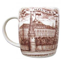 """Souvenir porcelain mug """"Moscow. Embankment"""""""