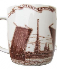 "Souvenir Porcelain mug ""Drawbridge"" Saint-Petersburg /060-1-04"