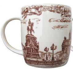 "Souvenir Porcelain mug ""St. Isaac's Cathedral"" /060-1-01"