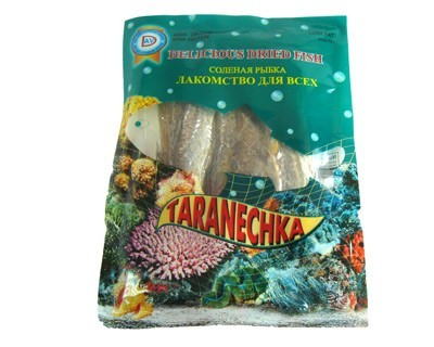 Delicious dried fish taranechka