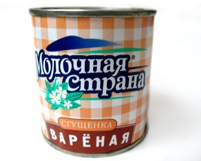 Sweeted condensed milk baked canned