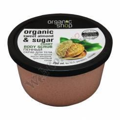 "Foaming Scrub ""Sweet Almond"" 250 Ml Organic Almond Oil And Cane Sugar ***"
