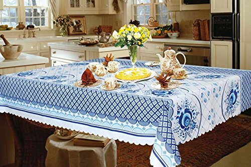 "Gzhel Tablecloth 59""x94.5"" / 150cmX240cm"