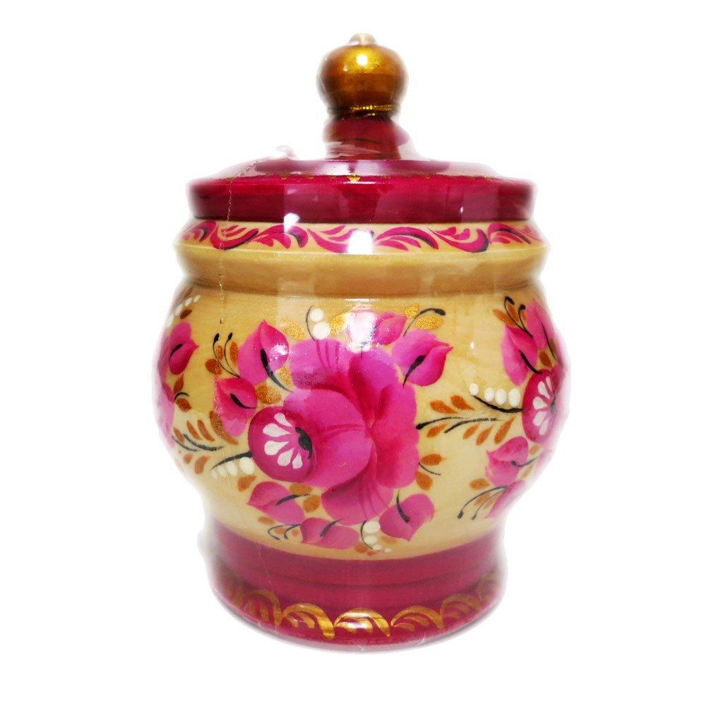 "Decorative Handmade Wooden ""Purple Barrel"" w/ Natural Organic Flower Honey, 300 g/ 10.5 oz"