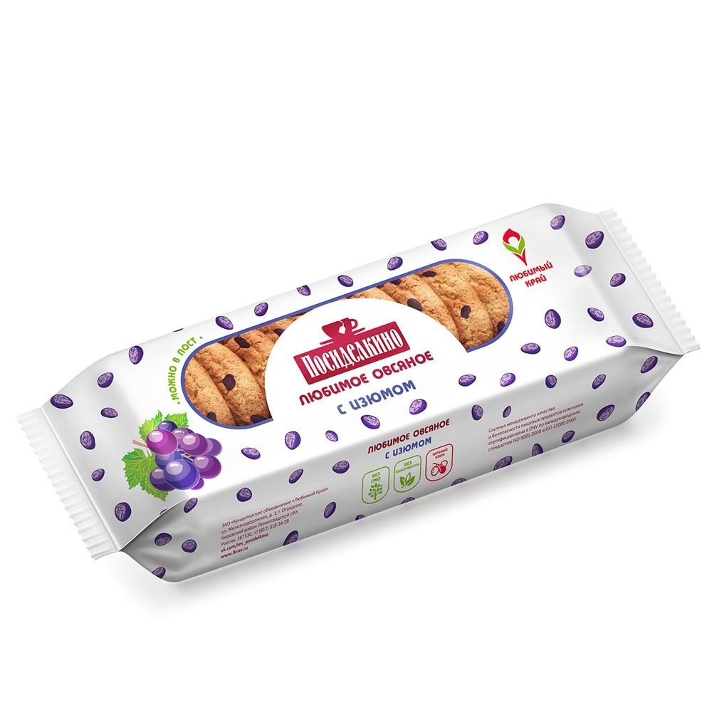 """Posidelkino"" Oatmeal Cookies w/ Raisin, 3.88 oz/ 110 g"