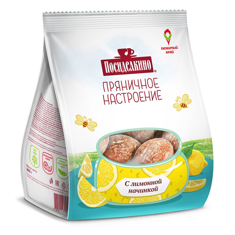 """Posidelkino"" Gingerbread w/ Lemon, 10.58 oz/ 300 g"