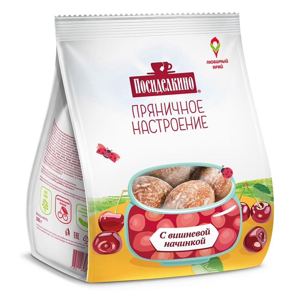 """Posidelkino"" Gingerbread w/ Cherry, 10.58 oz/ 300 g"