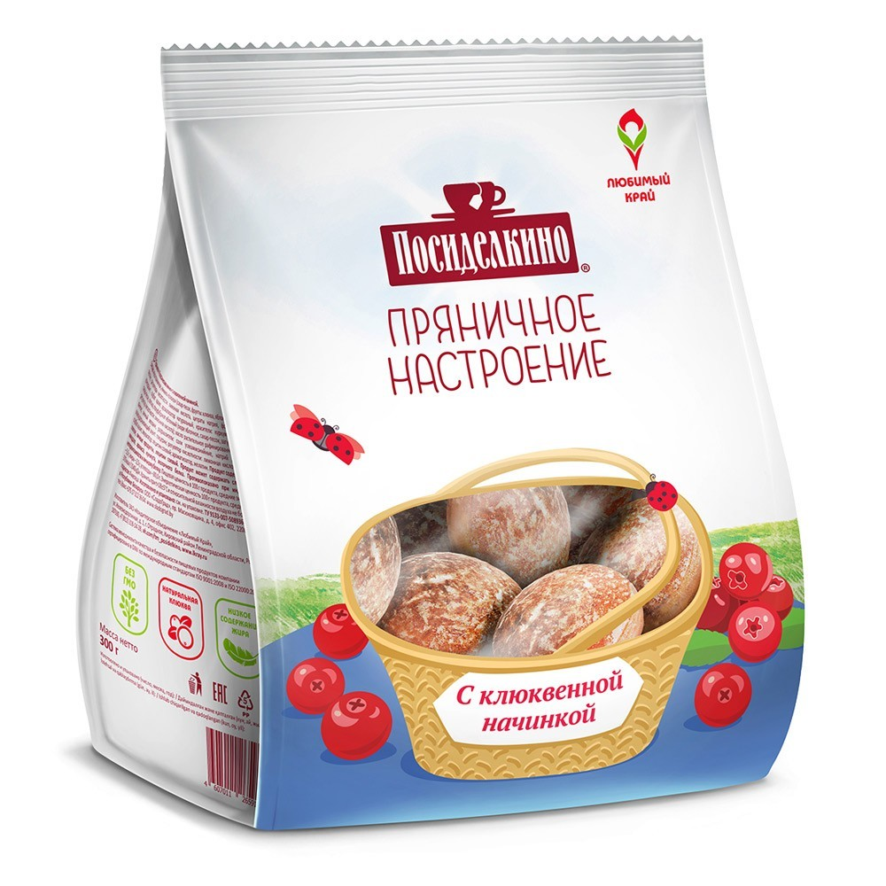 """Posidelkino"" Gingerbread w/ Cranberry, 10.58 oz/ 300 g"