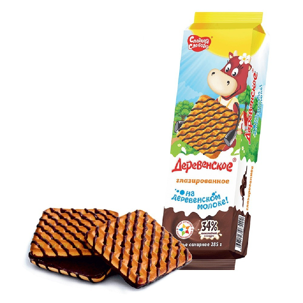 """""""Derevenskoe"""" Cookies w/ Souffle Glazed, 10 oz/ 285 g"""