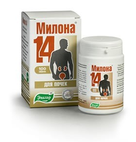 Herbal Supplement Milona-14 for Kidney, 100 Tabs/0.5G