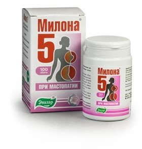 Herbal Supplement Milona-5 for Breast, 100 Tabs/0.5G