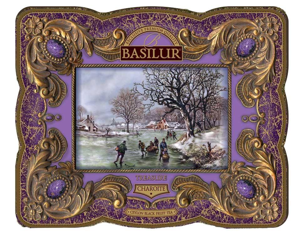 TREASURE Collection Basilur Gourmet Gift Tea Tin Box Charoite 100 G