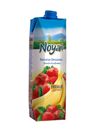 Natural Premium Armenian Noyan Banana Strawberry Juice 34 FL OZ