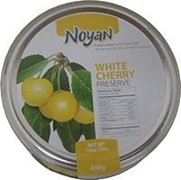 Natural Organic Noyan Armenian White Cherry Preserve 1 Lb