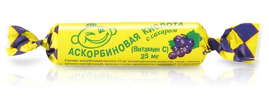 "Ascorbic Acid ""Askorbinka"", Black Currant, 10 Tab"