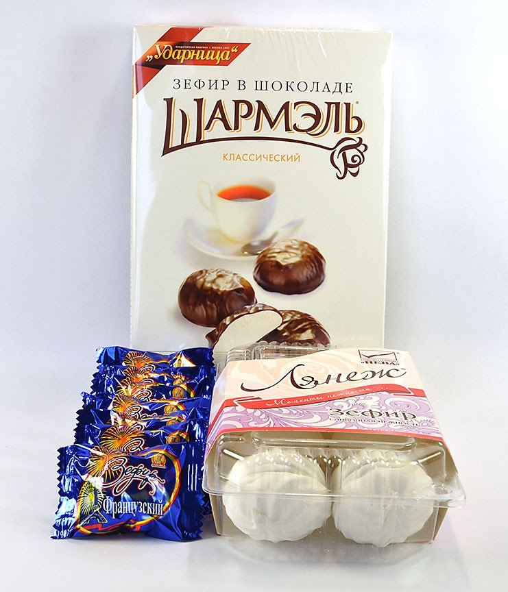 Russian Marshmallow Assortment: La Neige, Charmelle,  and Slavyanka French Zephyr ***