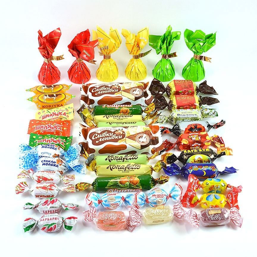 "Assorted Chocolate, Caramel, and Jelly Candy ""Roshen"", 1 lb0.45 kg ***"
