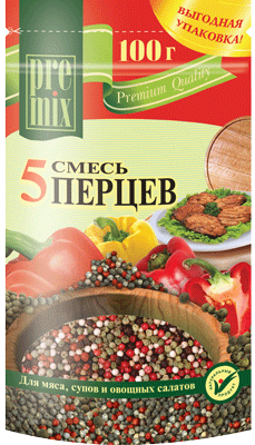 5 Types of Pepper Spices Seasoning Mix for Meat, Soup & Salad, 3.35 oz100 g
