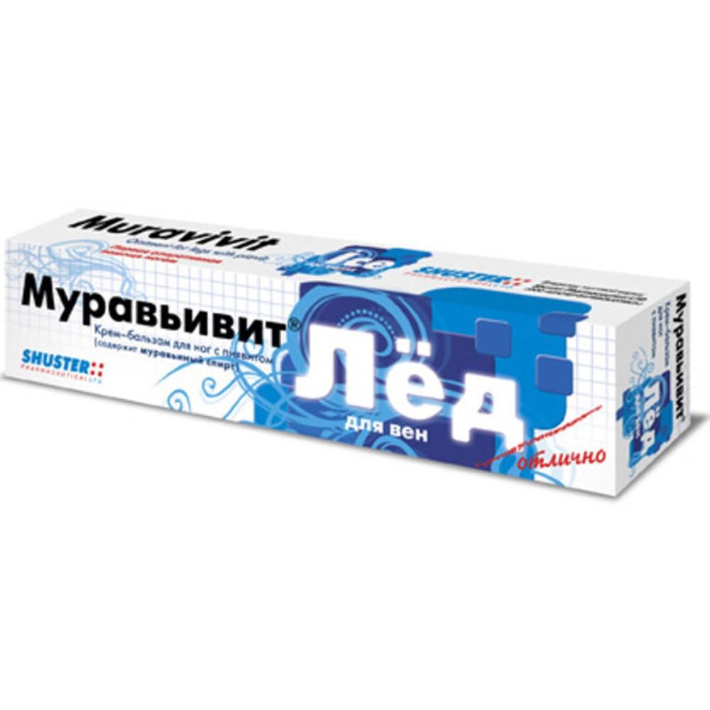 """""""Muravivit"""" Vein Cooler Foot Cream Balm w/ Chondrotin and Leech, 1.48 oz/ 44 ml"""