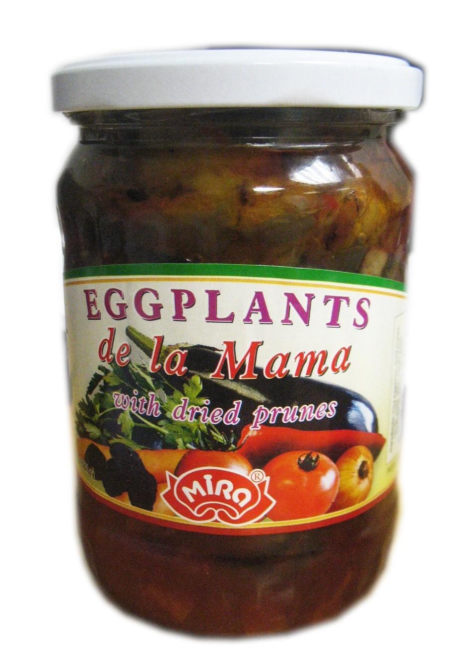 "Fried eggplants ""de la Mama"" with dried prunes 520g"