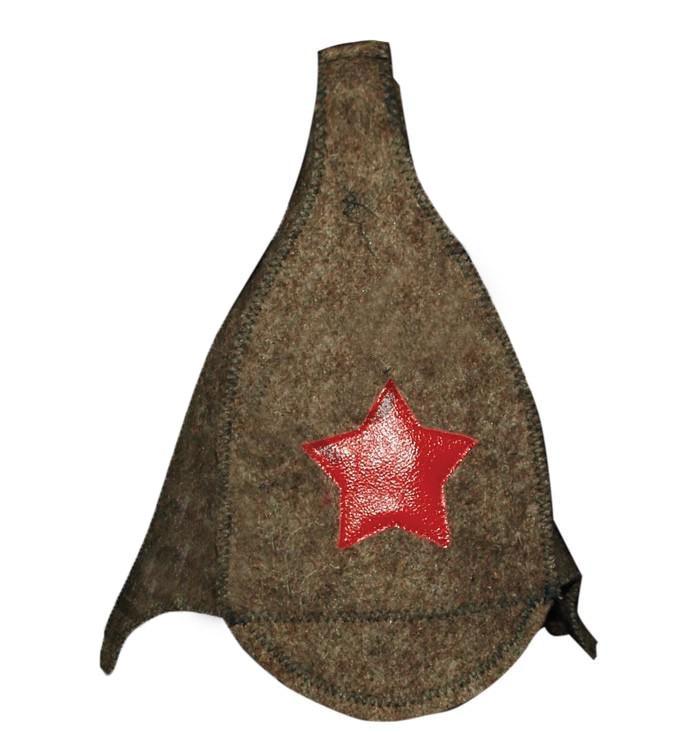 Budenovka hat for bath and sauna made of Felt