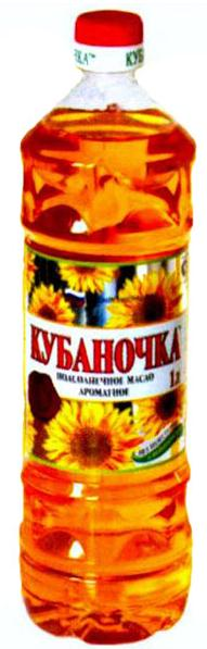 "Flavored Sunflower Oil ""Kubanochka"" 1L"