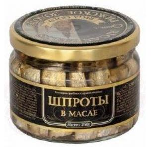 "Smoked Sprats in Oil ""Riga Gold""  250gr"