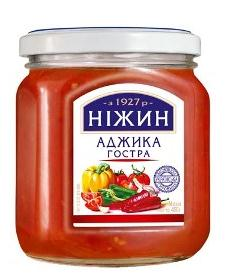 "Adjika ""Hot"" with a spicy flavor of garlic, pepper and spices Nezhin 450 gr"