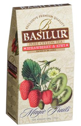 Pure Ceylon Black Tea ;Strawberry and Kiwi 100g
