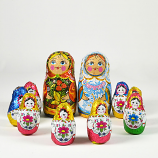 "Chocolate  ""Matreshka"" + Nesting Doll Ksyusha, 10 Pcs"