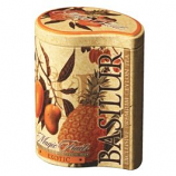 "Basilur Ceylon Black Tea with Papaya and Pineapple Magic Fruits ""Exotic"" in Metal Caddy, 3.52 oz/ 100 g"