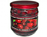 Homemade Preserve Sour Cherry Not Pitted, 17.63 oz/ 500 g