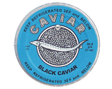 "Black caviar ""Malosol"" in Glass Jar, 2 oz/ 56.8 g"
