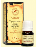 "Carrot Seed Essential Oil ""Aromatika"", 2,5 ml"