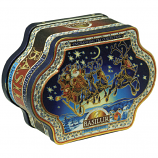 Basilur Enchanting Tea Collection Snow Sledge 100G Loose Leaf In Tin Caddy