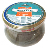 Herring Fillet in Oil with Onion, 9.17 oz/ 260 g