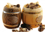 "Altai honey flower in wooden barrel in assortment ""Altai fairing"" 800 gr"