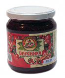Crushed lingonberries with sugar 550gr